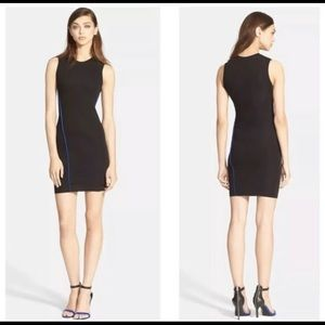 T by Alexander Wang Black And Blue Bodycon Dress S
